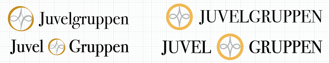 Juvelgruppen logo varianter